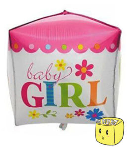 Pink Balloon Cube for Girls
