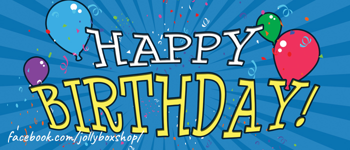 Jolly Box Happy Birthday Banner