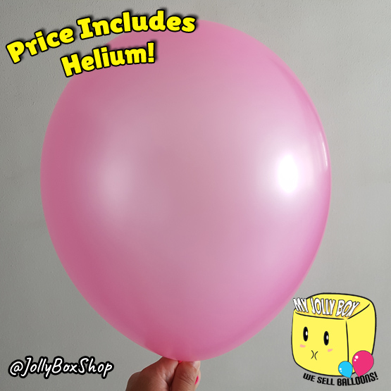 Metallic Pink Latex Balloon by Jolly Box
