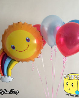 Foil Sunshine Balloon with 5 11 Inch Latex Balloons