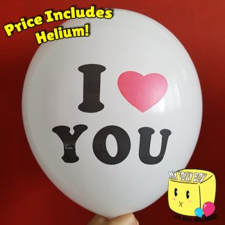 I Love You Latex Normal Balloon by Jolly Box