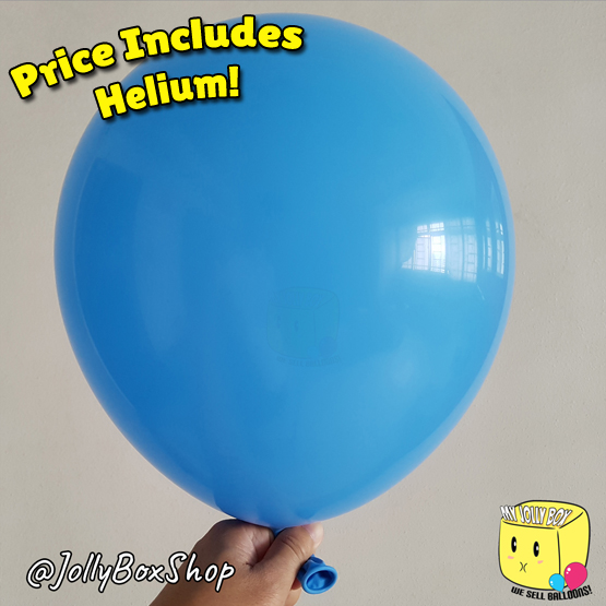 River Blue Latex Normal Balloon by Jolly Box