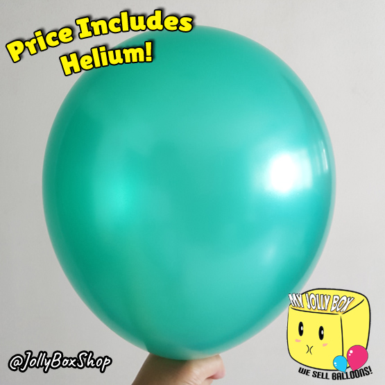 Metallic Green Latex Balloon by Jolly Box