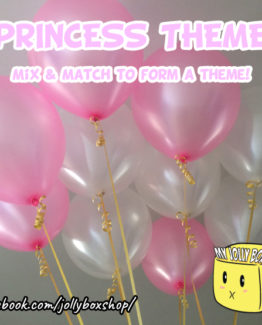 Princess Theme 10 Balloons Package, 11 Inch Latex Balloon
