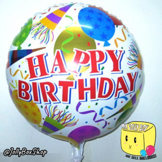 18 Inch Round Happy Birthday Wordings Foil Balloon