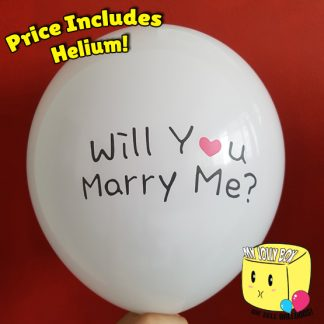 Will You Marry Me Latex Normal Balloon by Jolly Box