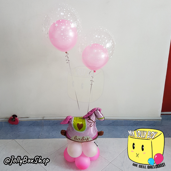 2 Tier Balloon Table Stand Design with 2 Balloon within Balloon