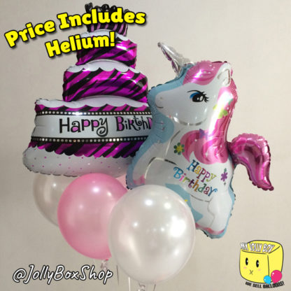 Cake with Pony and Balloons Package Listed by My Jolly Box