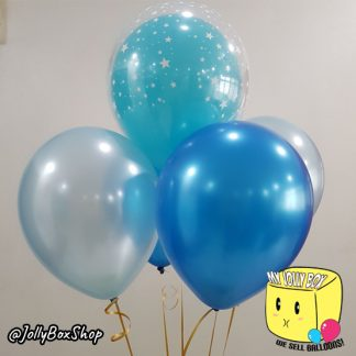 1 Double Bubble Balloon and 4 Normal Balloons Bouquet