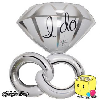 Diamond Ring with Twisted Band Foil Balloon