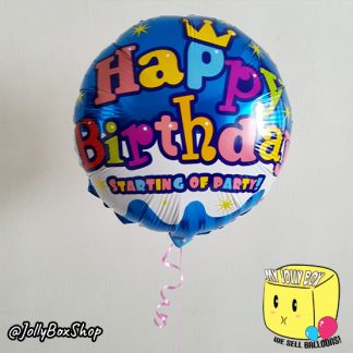 18 Inch Round Start of Party Foil Balloon