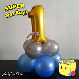Table Top Balloon Decorations with 16 Inch Foil Number