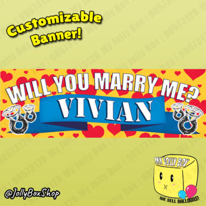 Will You Marry Me Proposal Banner Design A