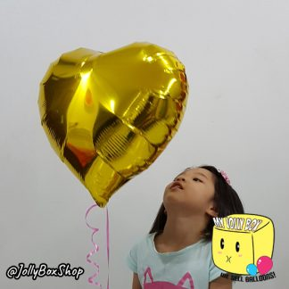 18 Inch Gold Heart Balloon