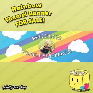 20 by 60 Inch Kids Birthday PVC Banner Rainbow Theme Design A