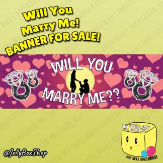 Marriage Proposal Banner 20 x 60 Inch