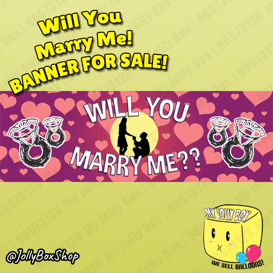 Will You Marry Me Proposal Banner Design B Listed By My Jolly Box