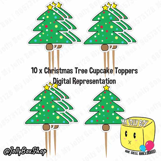 Christmas Cupcake Toppers.Christmas Tree Cupcake Topper For Christmas Party Decorations
