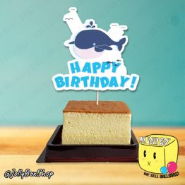 Cute Blue Whale Cake Topper For Beach Theme Party Decorations